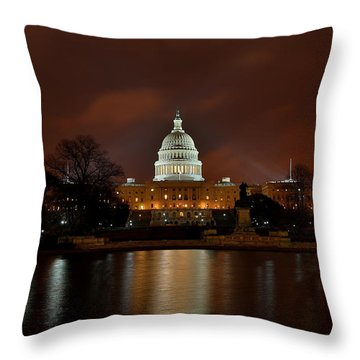 Twilight At The Capitol Throw Pillow