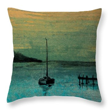 Twilight Bay Throw Pillow by R Kyllo