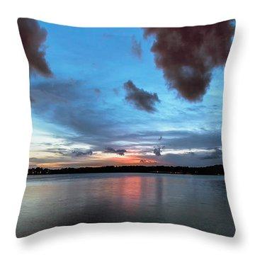 Twilight On Lake Lanier Throw Pillow