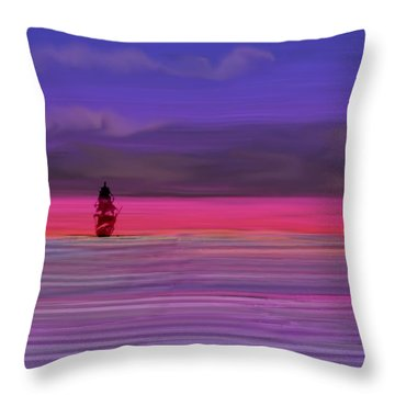 Twilight Between Sunset And Night Throw Pillow