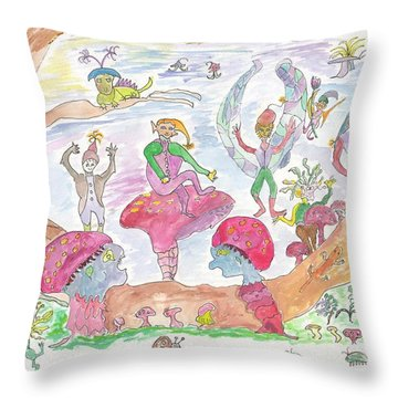 Twilight Faery Glen Throw Pillow by Helen Holden-Gladsky