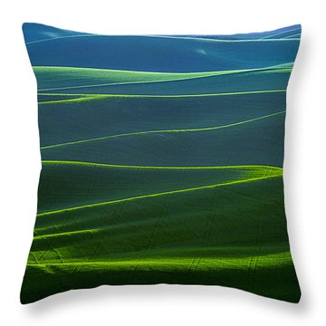 Twilight Hills Of The Palouse Throw Pillow