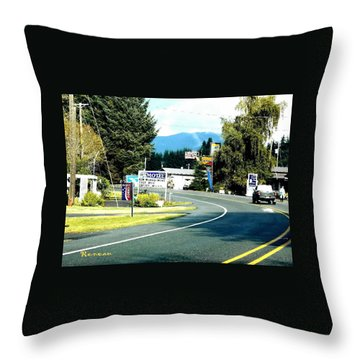 Twilight In Forks Wa 2 Throw Pillow by Sadie Reneau