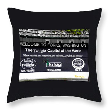 Twilight In Forks Wa 5 Throw Pillow by Sadie Reneau