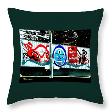 Twilight In Forks Wa 6 Throw Pillow by Sadie Reneau