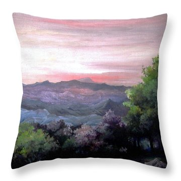 Throw Pillow featuring the painting Twilight by Mikhail Savchenko