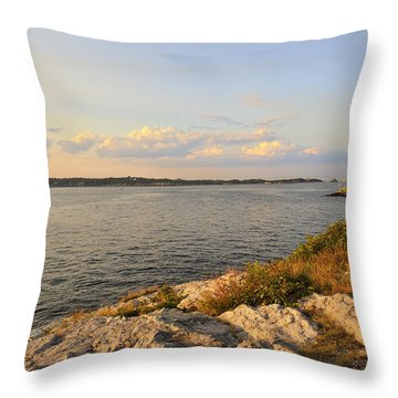 Throw Pillow featuring the photograph Twilight Newport Rhode Island by Marianne Campolongo