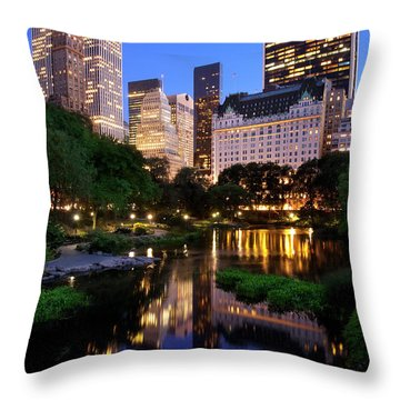 Twilight Nyc Throw Pillow