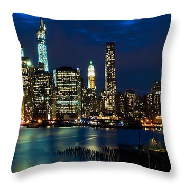 Twilight Nyc Panorama Throw Pillow