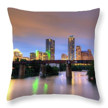 Twilight On The Lake Throw Pillow by Dave Files