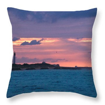 Twilight Over Cape Henry Throw Pillow