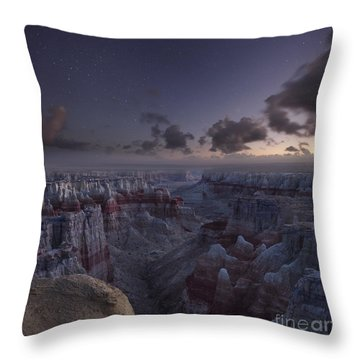 Twilight Over Coal Mine Canyon Throw Pillow