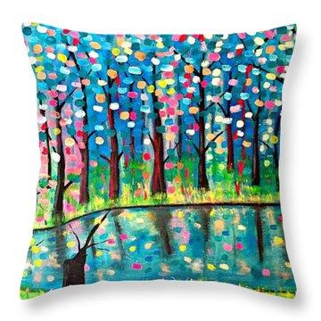 Twilight Pond Throw Pillow