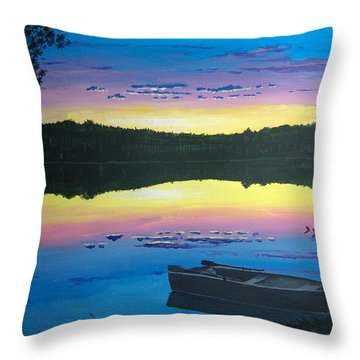 Twilight Quiet Time Throw Pillow by Norm Starks
