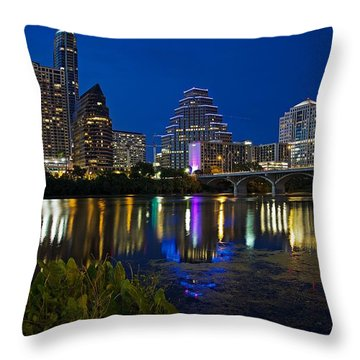 Twilight Reflections Throw Pillow by Dave Files