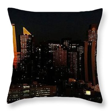 Throw Pillow featuring the photograph Twilight Reflections On New York City by Lilliana Mendez
