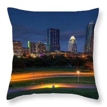 Throw Pillow featuring the photograph Twilight Skyline by Dave Files