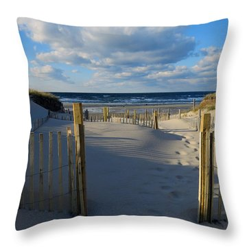 Golden Hour Beach Throw Pillow by Dianne Cowen