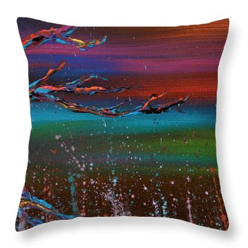 Twilight Sun Throw Pillow