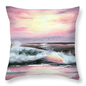 Twilight Surf Throw Pillow