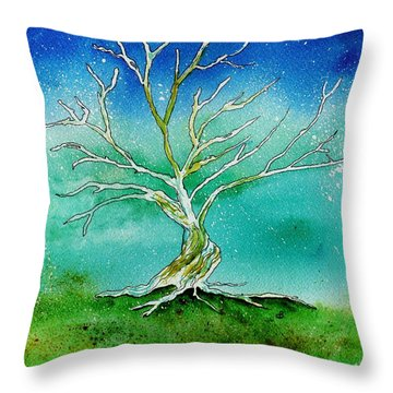 Twilight Tree Throw Pillow