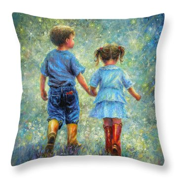 Brother And Sister Throw Pillows