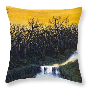 Twilight's Last Breath Throw Pillow by Pheonix Creations