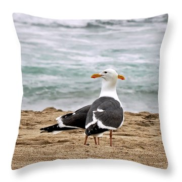 Twin Beaks Throw Pillow by Susan Wiedmann