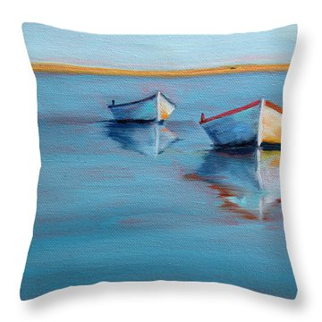 Twin Boats II Throw Pillow by Trina Teele