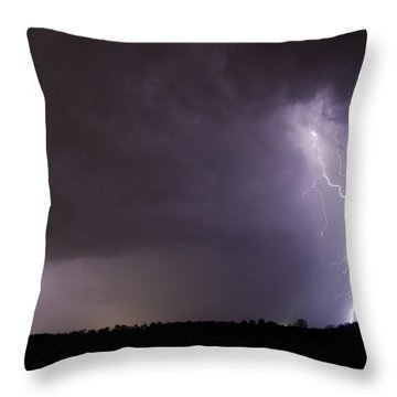Twin Bolts Throw Pillow by John Crothers