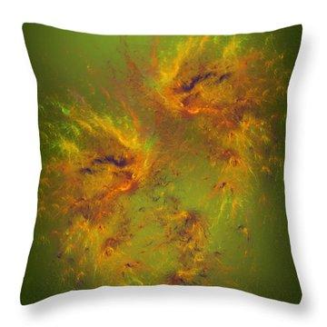 Throw Pillow featuring the digital art Twin Flames - Spiritual Art By Giada Rossi by Giada Rossi