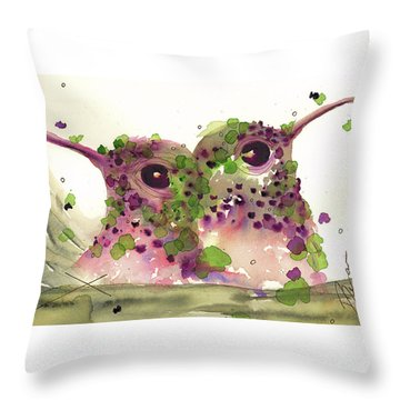 Twin Hummers Throw Pillow