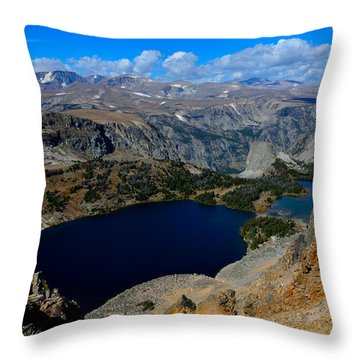 Twin Lakes And The Beartooth Mountains Throw Pillow