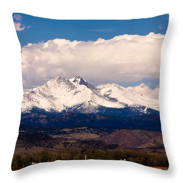 Twin Peaks Snow Covered Throw Pillow