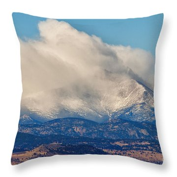 Twin Peaks Winter Weather View  Throw Pillow by James BO  Insogna