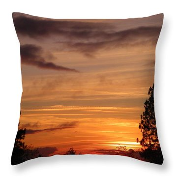 Twin Pines Throw Pillow by Tom Mansfield