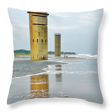 Twin Towers At Whiskey Beach Throw Pillow