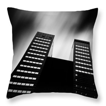 Twin Towers Throw Pillow by Dave Bowman