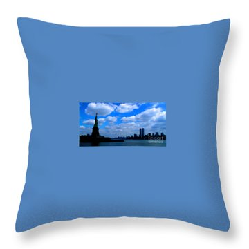 Twin Towers In Heaven's Sky - Remembering 9/11 Throw Pillow