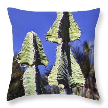 Twin Towers Throw Pillow by Kelley King