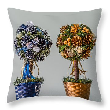 Twin Trees Throw Pillow