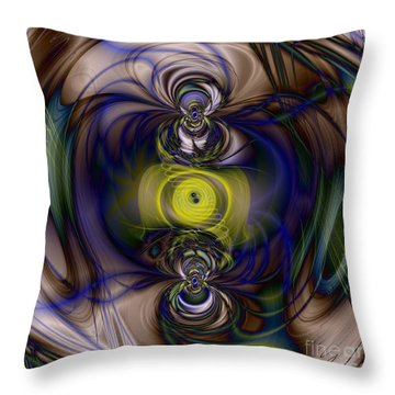 Twine Of Light Throw Pillow by Elizabeth McTaggart