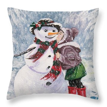 Throw Pillow featuring the painting Twinkle In His Eye by Sharon Duguay