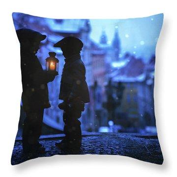Blue Light Throw Pillows