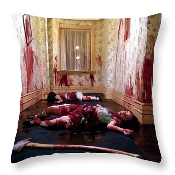 Twins Murdered @ The Shining Throw Pillow