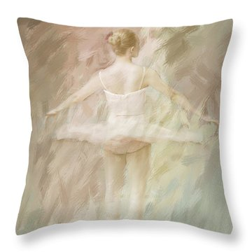 Throw Pillow featuring the painting Twirling by Linda Blair