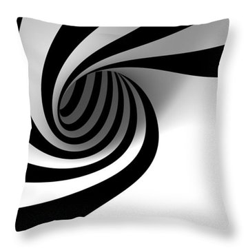 Twirly Shapes Throw Pillow by Gianfranco Weiss