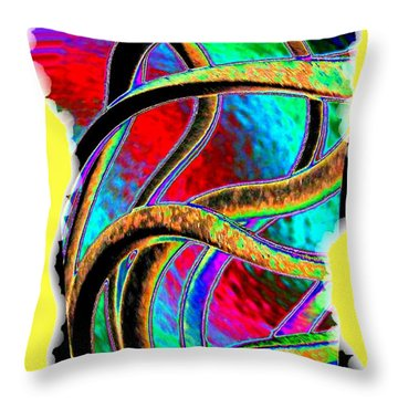 Twist And Shout 3 Throw Pillow by Will Borden