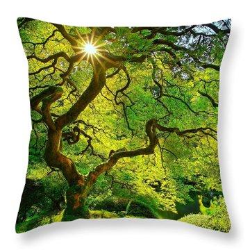 Twist Of Life Throw Pillow by Kadek Susanto