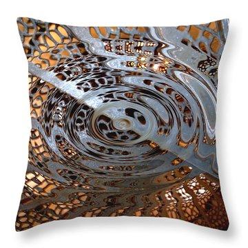 Twist Of Steel Throw Pillow by Randy Pollard